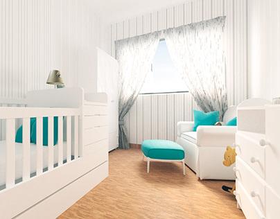 Quarto de Bebê 12 m²