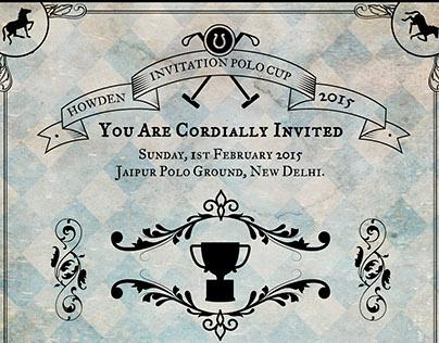 Howden Polo Cup: Invitation Design