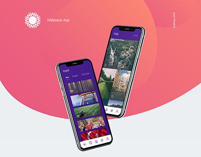 Wallpaper App UI/UX Design