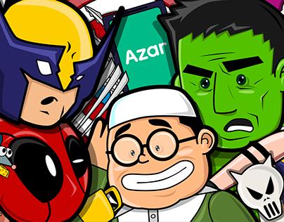 Azar App - Animated Ad - Superheroes