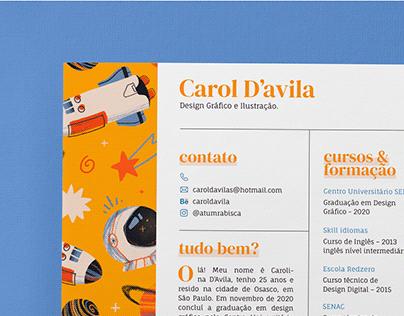 Resume | Carol D'Avila