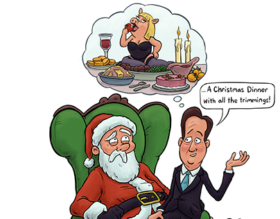 Lottoland - 'All I Want For Christmas' cartoons