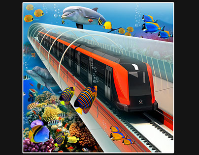 Underwater Train Driving Simulator 3D 2018