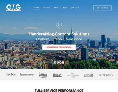 minimalist website OMG
