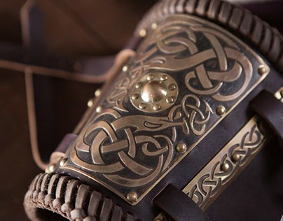Viking belt and bracers