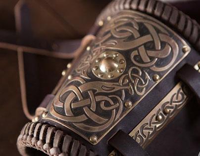 Viking belt and bracers