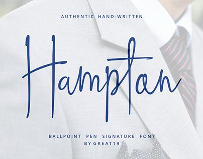 Hampton Signature Font