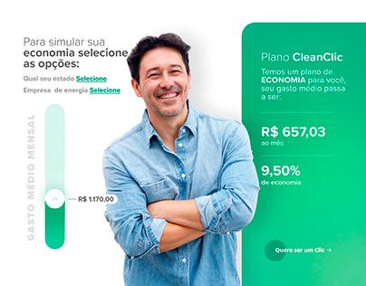Website design clean energy - CleanClic