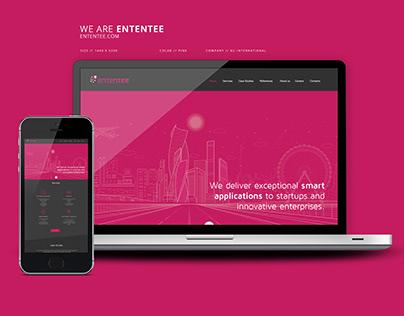 Ententee Website Design
