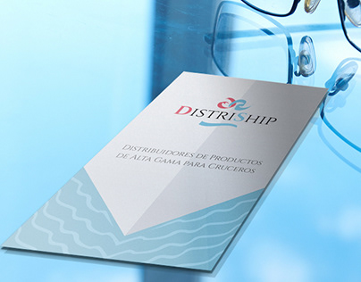 Distriship díptico y tarjeta de visita