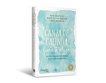 """Cover design of """"Canja de galinha para a alma"""""""