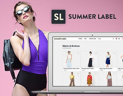 SummerLabel Ecommerce UI/UX