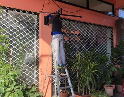 Bar Limassol open air space heating solution