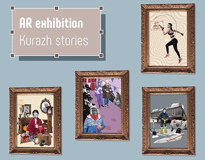 """AR exhibition """"Kurazh stories"""""""