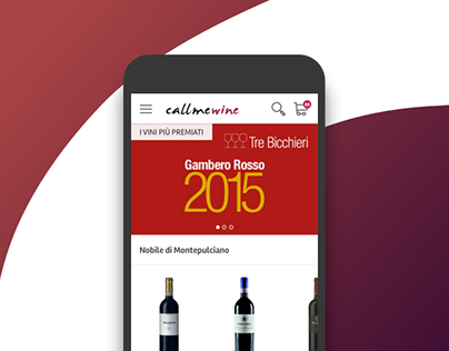 Callmewine - Mobile website