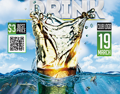Souda Drink Flyer template