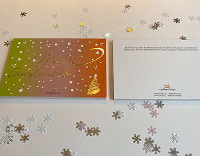 Christmas card Curlee Design München