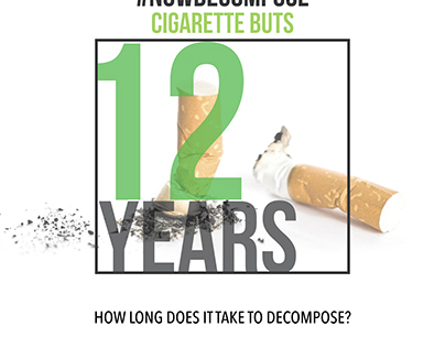 How Long to Decompose? Social media campaign, 2017