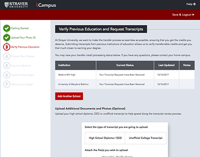 Case Study: Strayer's Admissions Portal