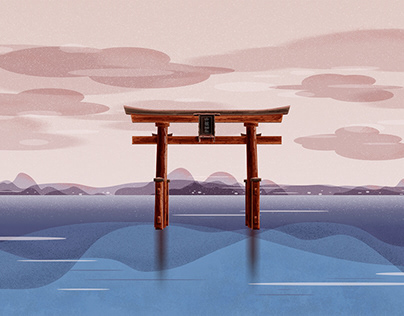 Torii in the lake 湖中鳥居