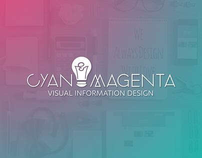 Logo - Cyan & Magenta: Visual Information Design