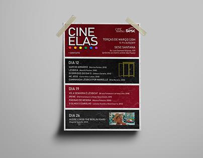 Cine Elas (Logo e Material de divulgação)