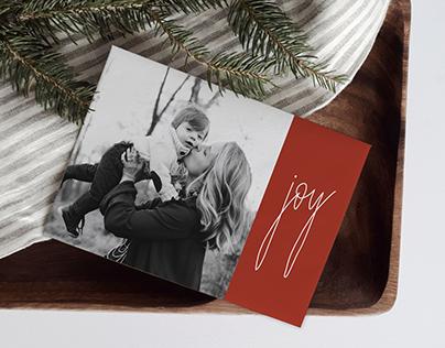 Christmas Card Template - Simply Joy