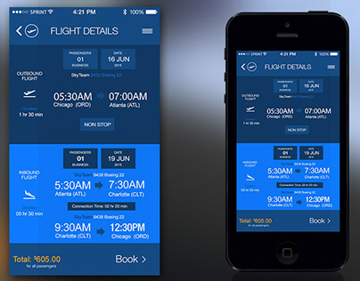 SkyTeam Mockups and Wireframes