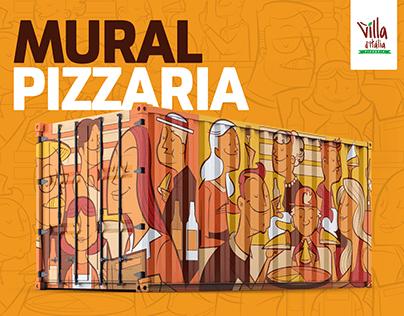 Mural Ilustrado - Villa D'itália