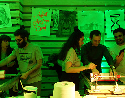 Jameson St Patrick's Day / Live Screen Printing
