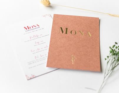 Geboortekaart Mona