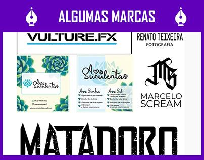 algumas marcas e logotipos