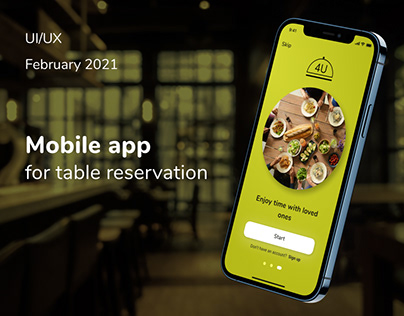 Mobile app for table reservation
