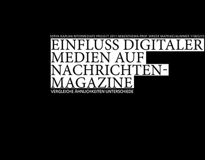 Einfluss digitaler Medien auf Nachrichtenmagazine