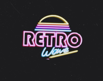 Retro Wave concept photo shoot