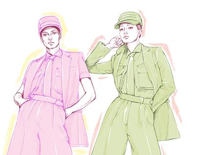 Max Mara Fashion Illustration