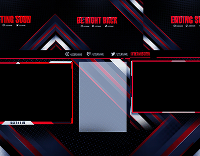 Free Twitch Overlay Projects Photos Videos Logos Illustrations And Branding On Behance