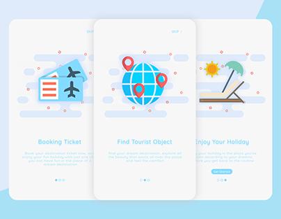 On Boarding Screen TravelApp