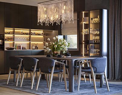 BREEZE Livingroom and kitchen