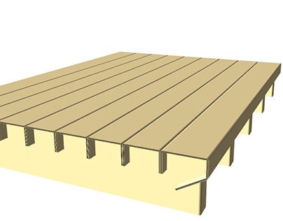 Corrugated Bed Frame