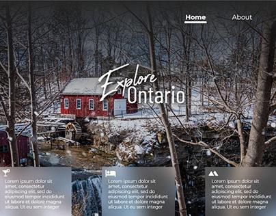 Tourism Web Page Mockup