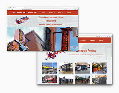 Awning Express website