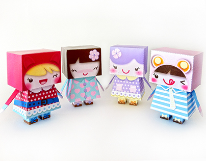 TaraDolls, DIY Kawaii Dolls Paper Toy Illustration