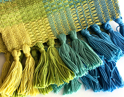 Hand-Dyed Color Blanket // Weaving
