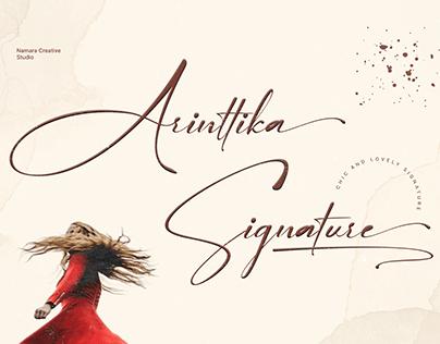 Arinttika Signature Fonts