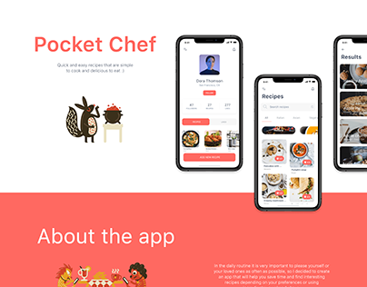 Pocket Chef - Mobile App, Cooking, Interaction