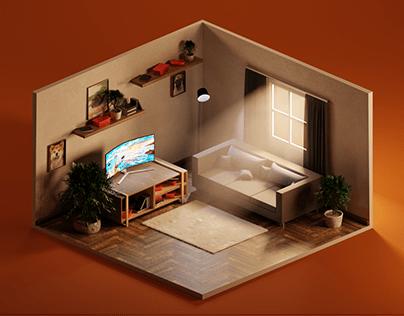 isometric room (sashulla)