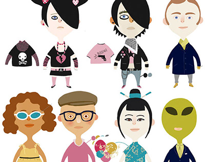 Characters creation for the kid's project