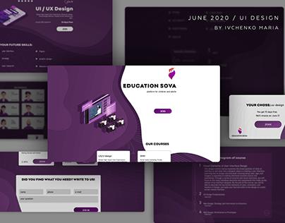 Online school website design