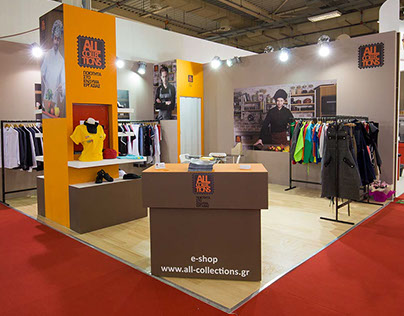 """Exhibition kiosk for """" All Collections"""" company"""